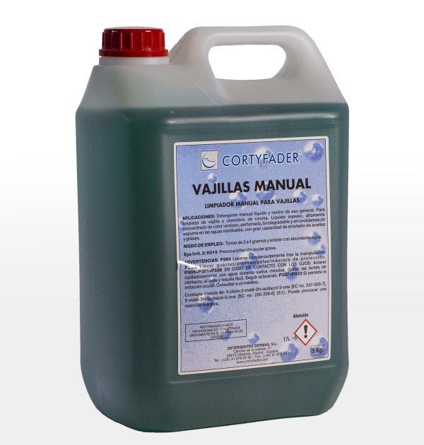 detergente líquido de uso manual